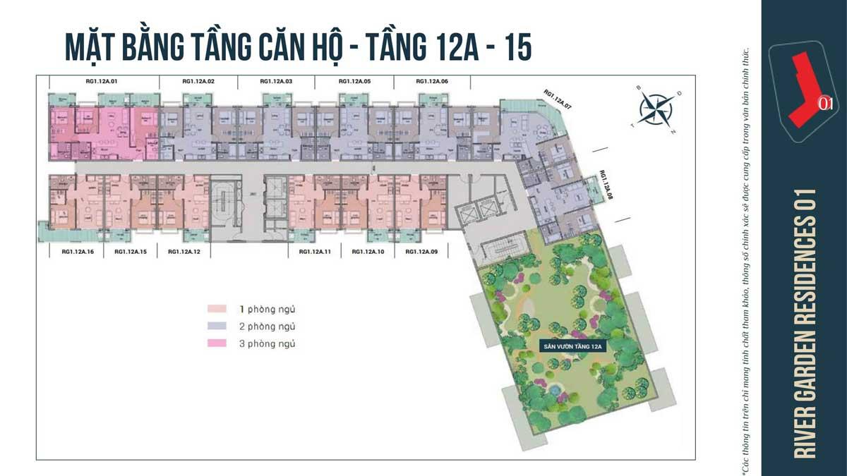 MAT BANG TANG 12A 15 CAN HO RIVER GARDEN RESIDENCES - RIVER GARDEN RESIDENCES