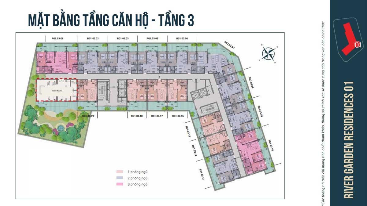 MAT BANG TANG 3 CAN HO RIVER GARDEN RESIDENCES - RIVER GARDEN RESIDENCES