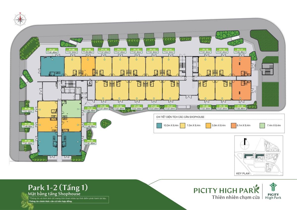 Mat bang tang 1 Park 1 Picity High Park Limited Edition - MỞ BÁN PARK 1 PICITY HIGH PARK LIMITED EDITION