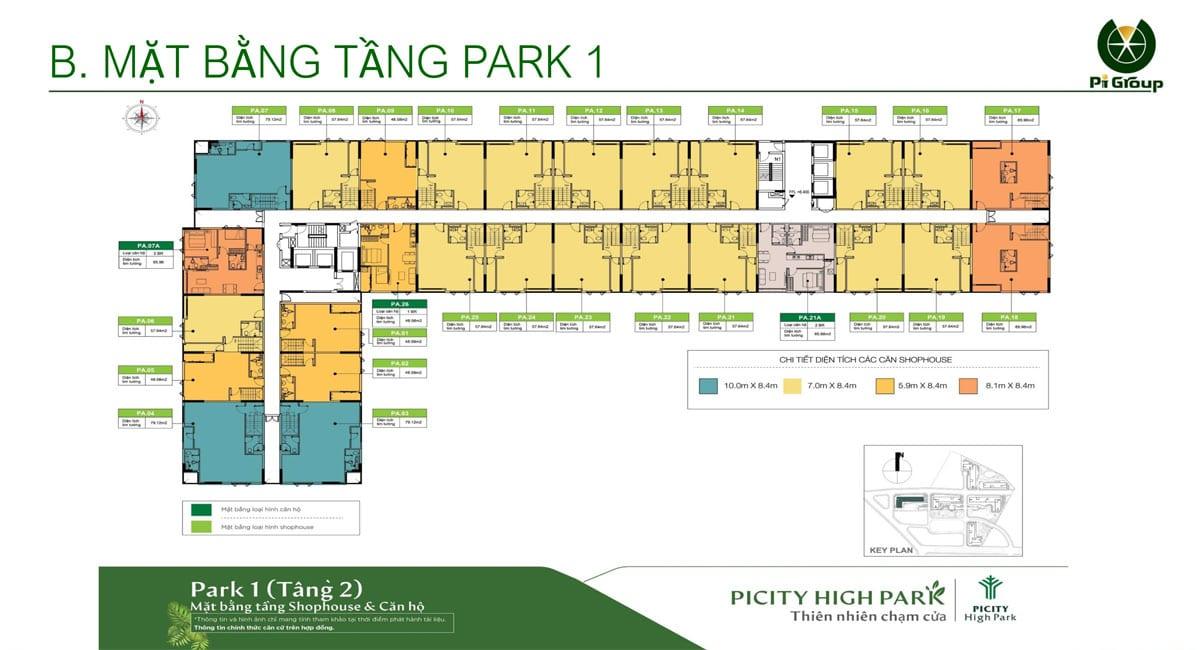 Mat bang tang 2 Park 1 Picity High Park Limited Edition - MỞ BÁN PARK 1 PICITY HIGH PARK LIMITED EDITION