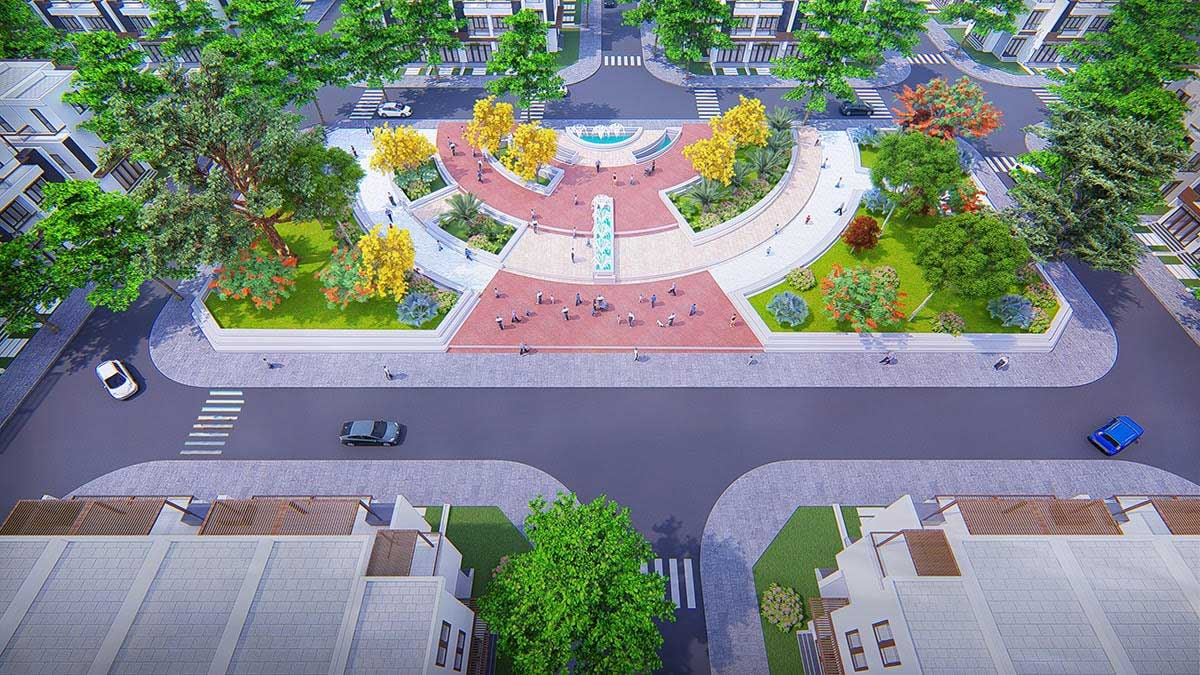 cong vien du an fenix city - Fenix City Hậu Giang