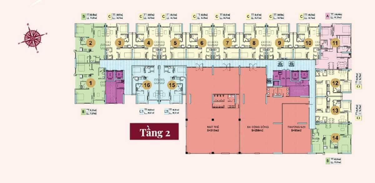mat bang tang 2 du an legend complex - Legend Complex