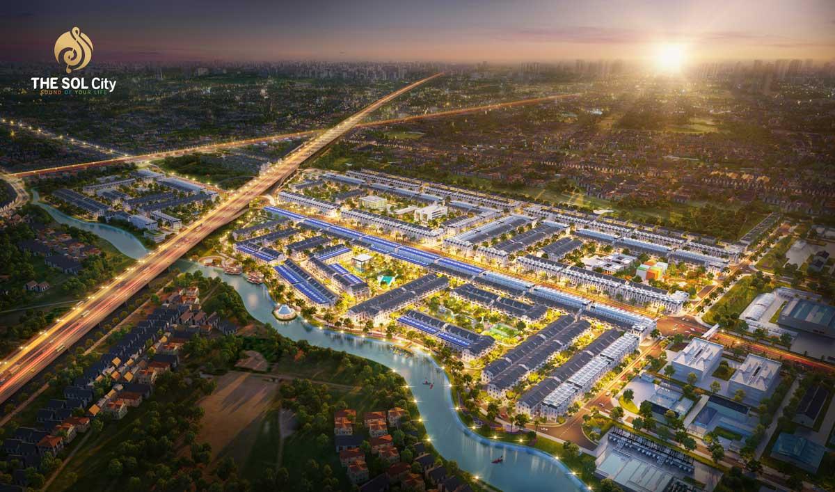 Phối cảnh Dự án The Sol City Nam Sài Gòn