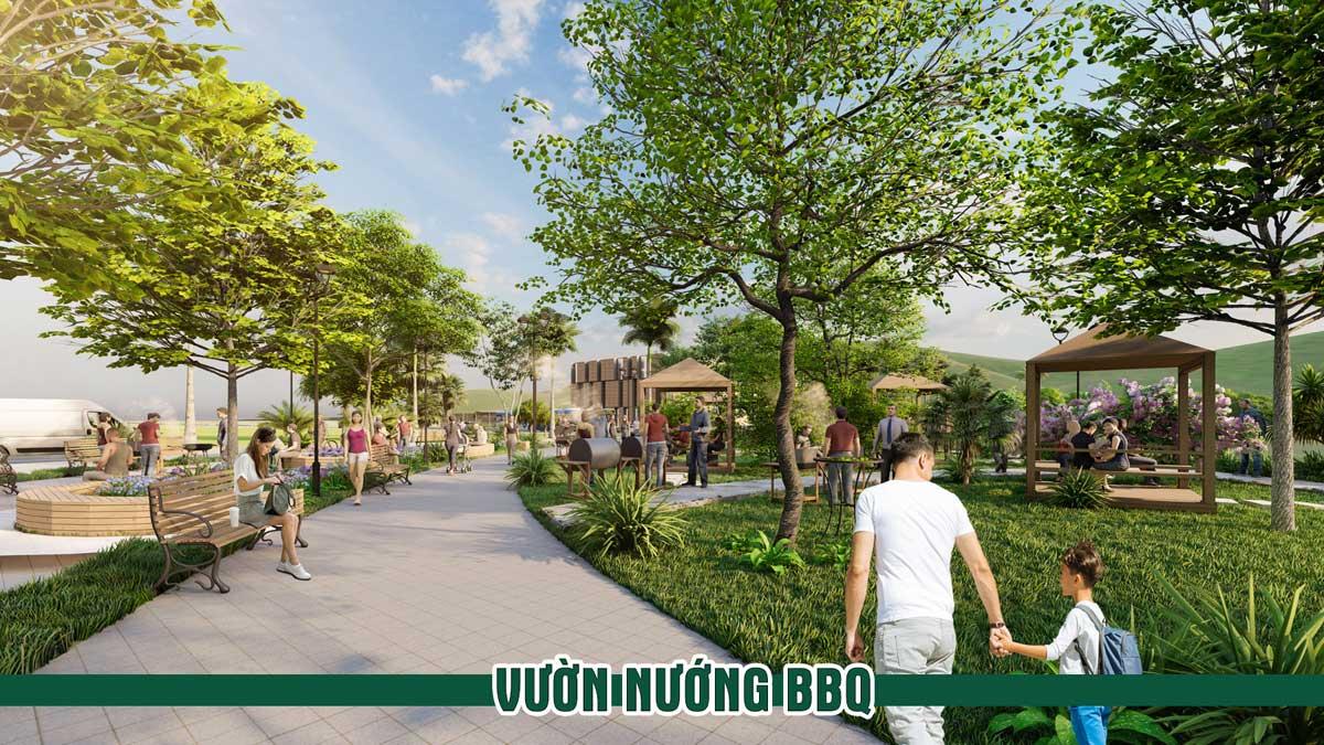 vuon nuong bbq Thanh Son Riverside Garden - Thanh Sơn Riverside Garden