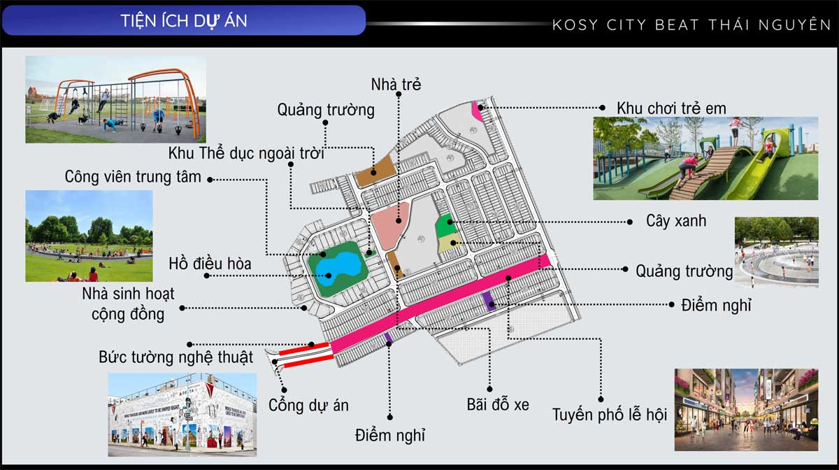 He thong tien ich noi khu Kosy City Beat - KOSY CITY BEAT THÁI NGUYÊN