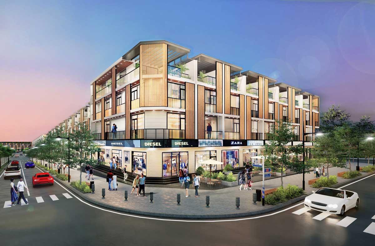 Phoi canh Nha pho Shophouse Lo Goc Takara Residence Binh Duong - TAKARA RESIDENCE CHÁNH NGHĨA THỦ DẦU MỘT BÌNH DƯƠNG