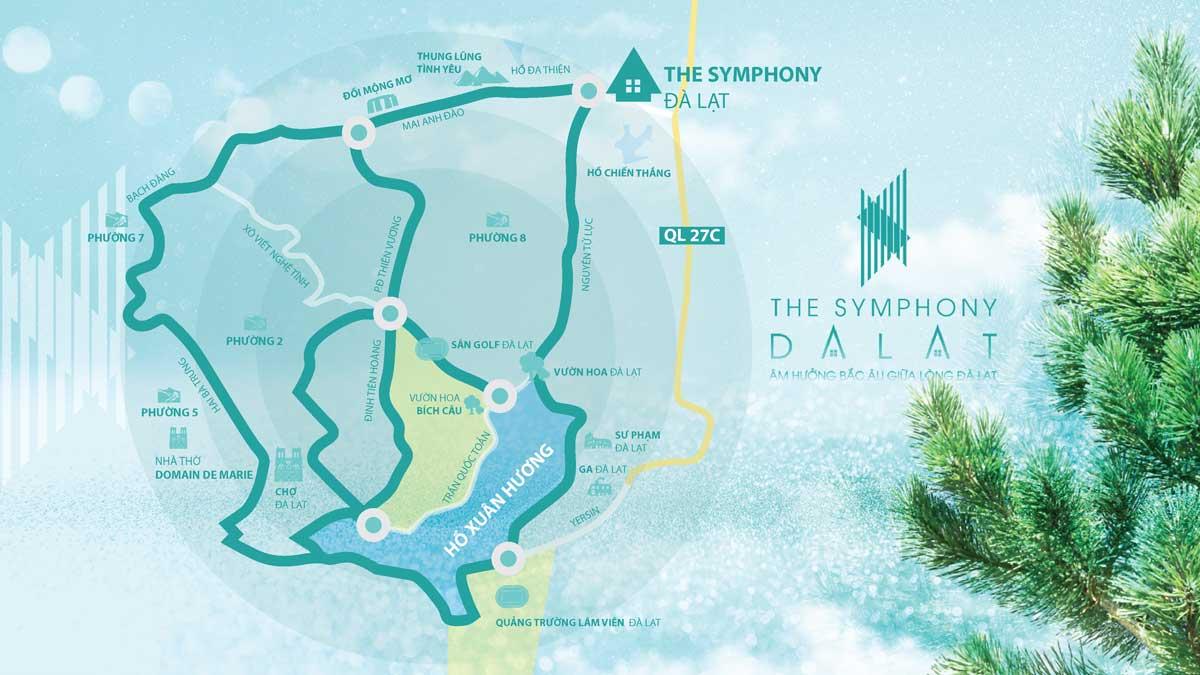 Vi tri The Symphony Da Lat - THE SYMPHONY ĐÀ LẠT