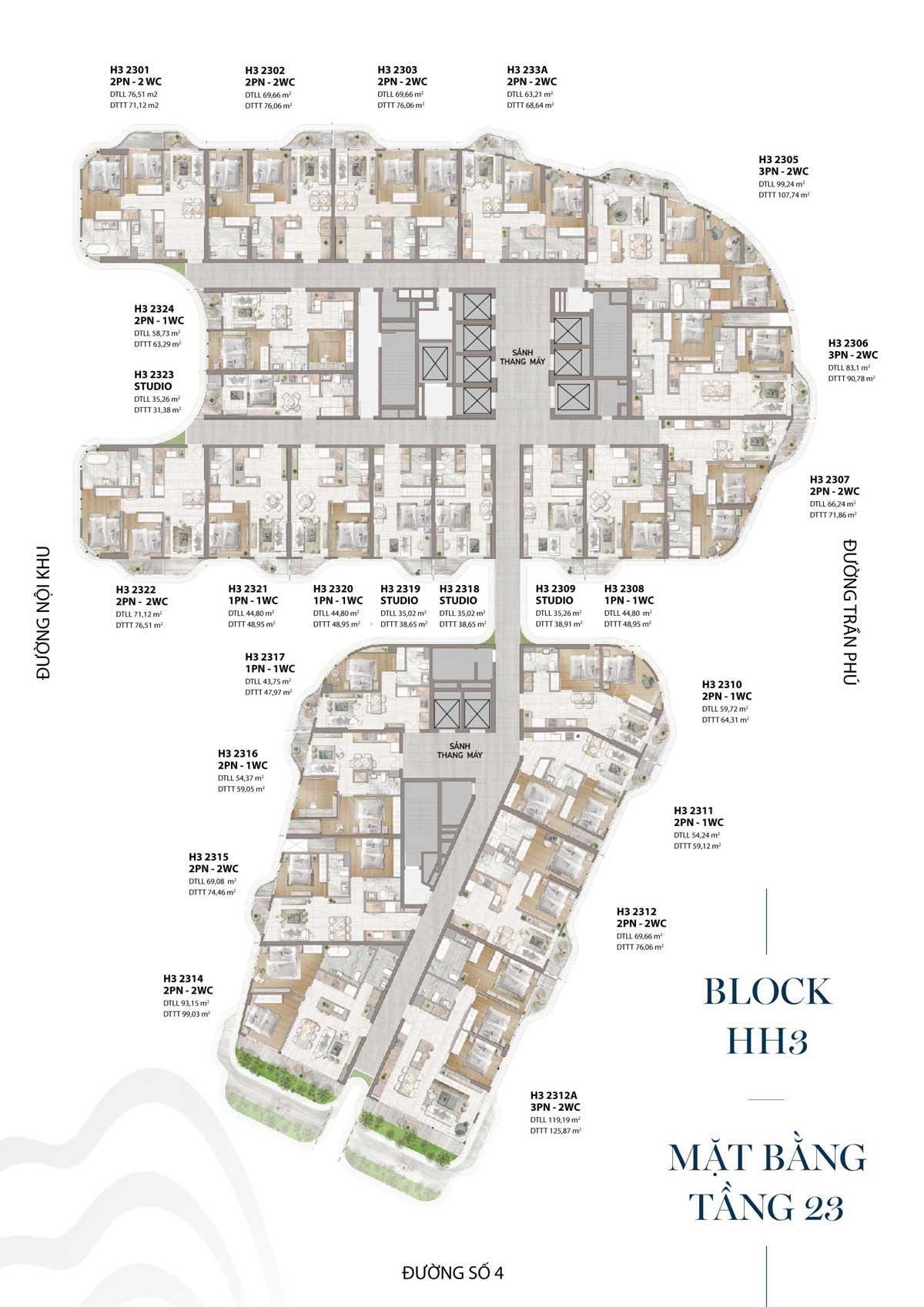 mat bang tang hh3 tang 23 the aston - Lễ Mở bán Dự án The Aston Luxury Residence Nha Trang