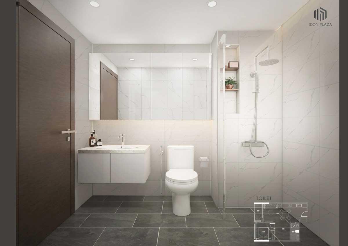 toilet can ho 1pn icon plaza - ICON PLAZA BÌNH DƯƠNG