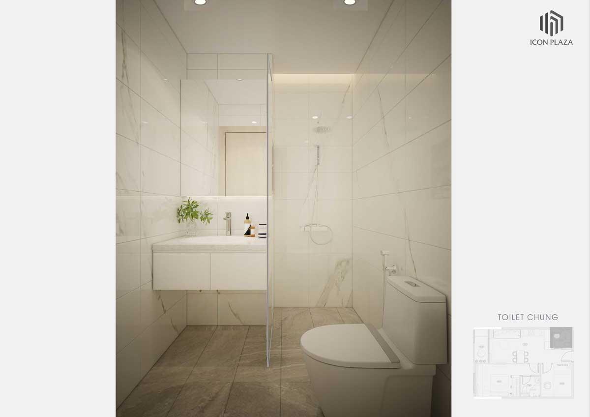 toilet can ho 2 phong ngu icon plaza - ICON PLAZA BÌNH DƯƠNG
