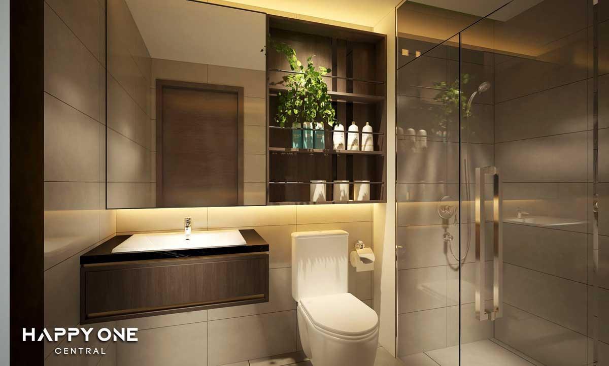 toilet can ho happy one central - DỰ ÁN CĂN HỘ HAPPY ONE CENTRAL BÌNH DƯƠNG
