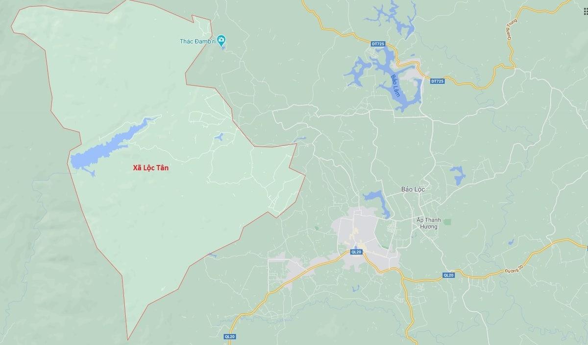 vi tri xa loc tan tren ban do thuoc tinh lam dong - vi-tri-xa-loc-tan-tren-ban-do-thuoc-tinh-lam-dong