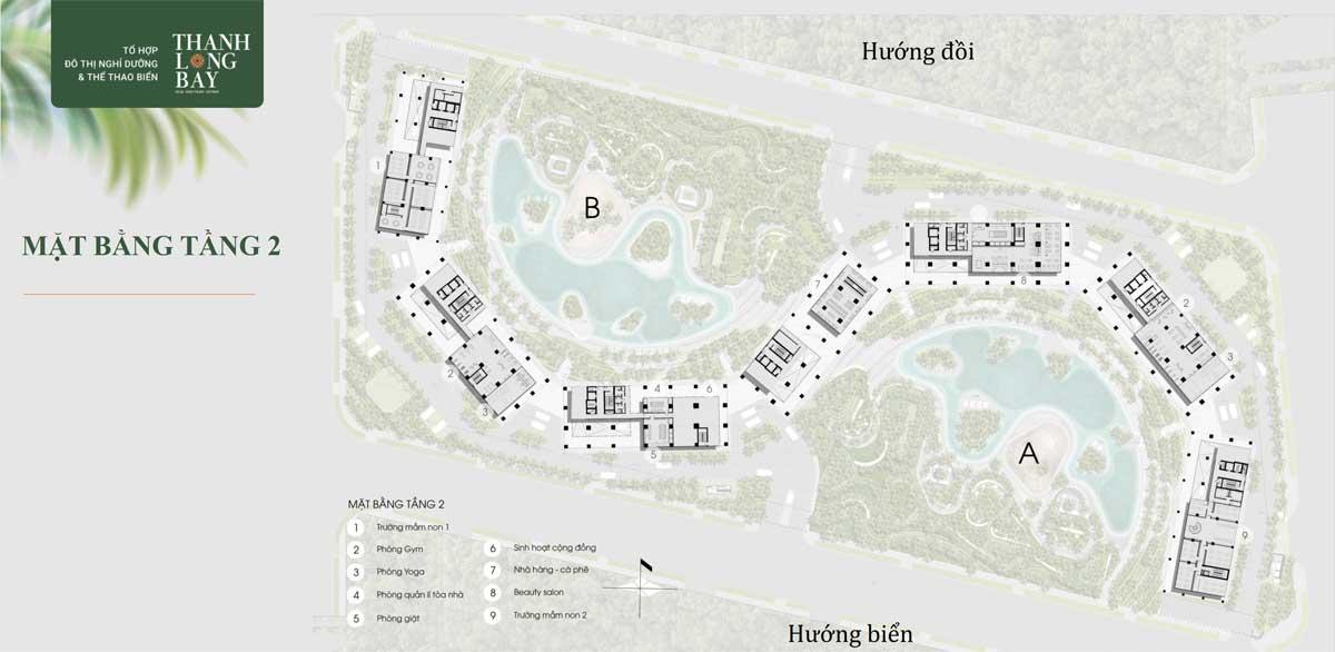 Mat bang Tang 2 Can ho Wyndham Coast - Wyndham Coast By Thanh Long Bay