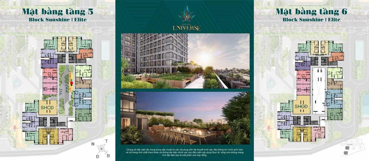 Mat bang Tang 5 6 Block Sunshine Block Elite - Biên Hòa Universe Complex