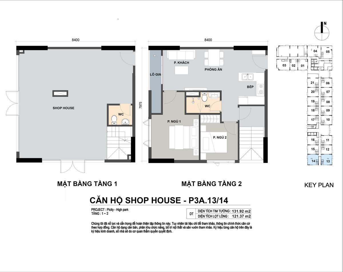 P3A 1314 131m2 - Shophouse Picity High Park