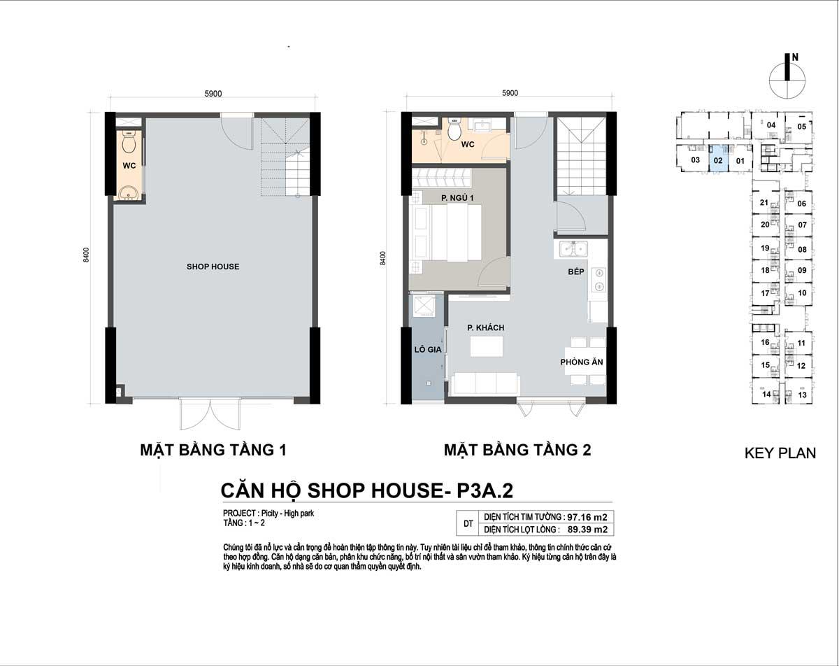 P3A 2 97m2 - Shophouse Picity High Park