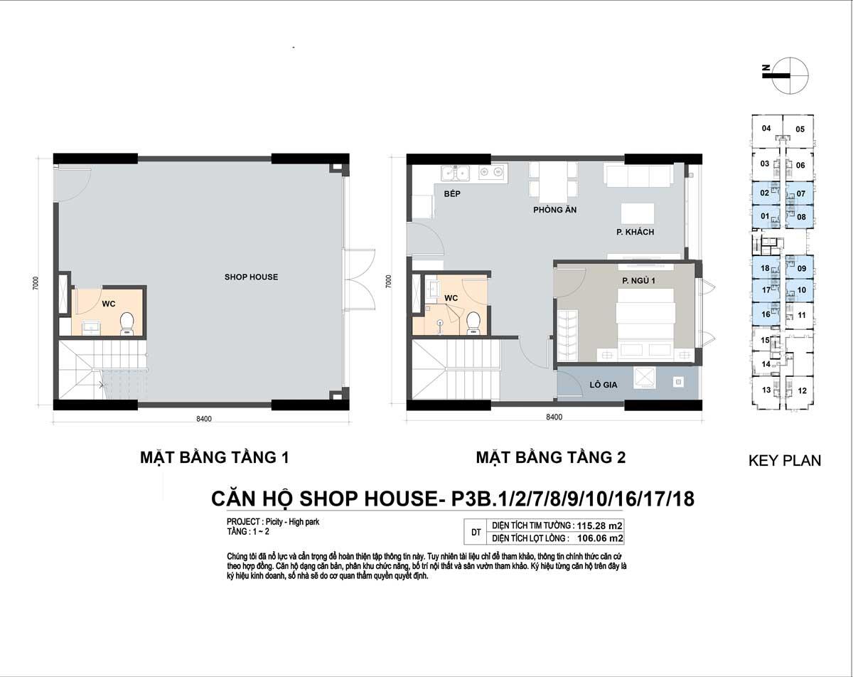 P3B 1278910161718 115m2 - Shophouse Picity High Park