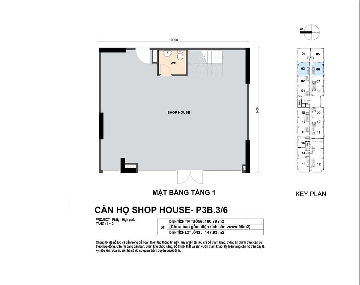 P3B 36 160m2 T1 - Shophouse Picity High Park