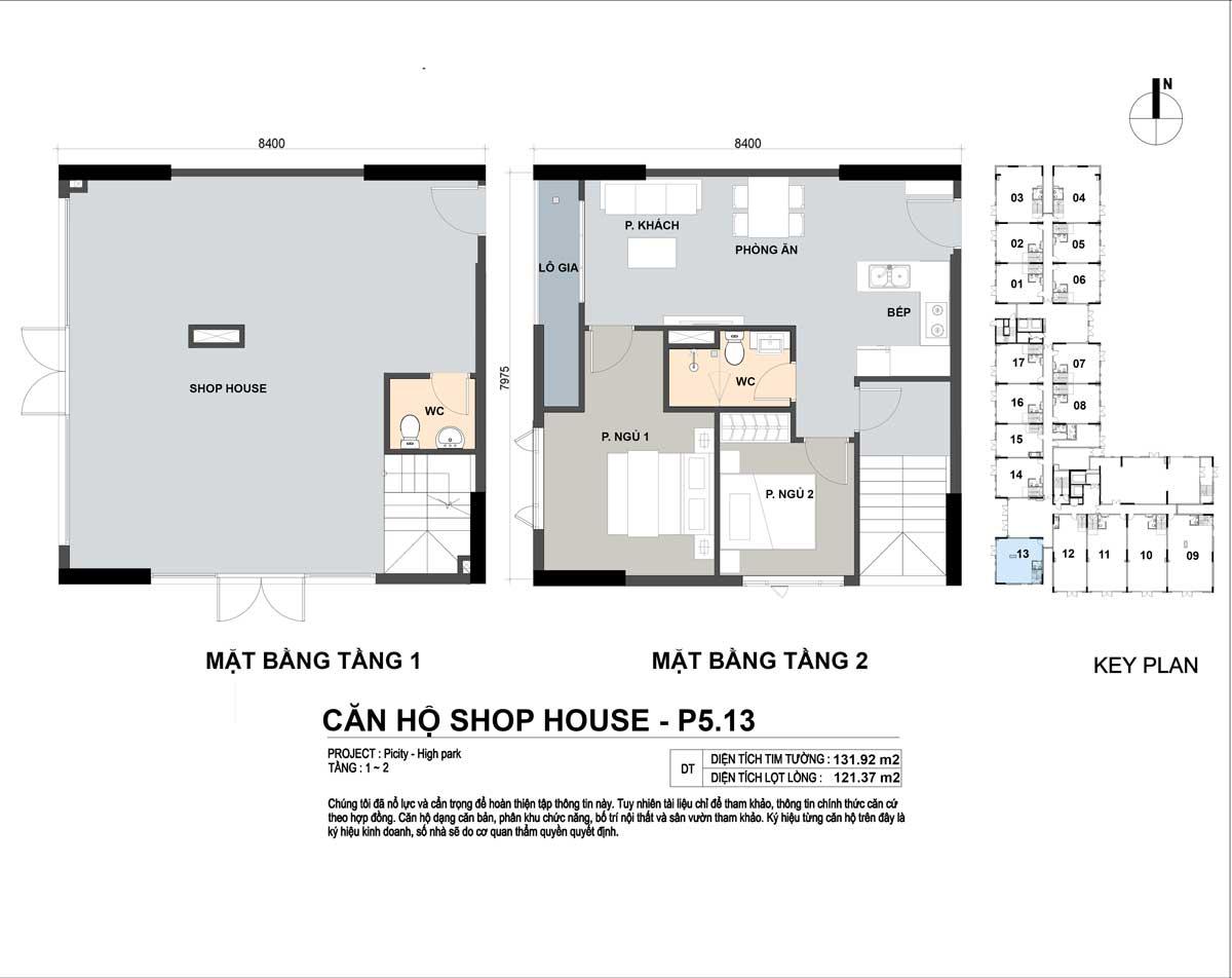P5 13 131m2 - Shophouse Picity High Park