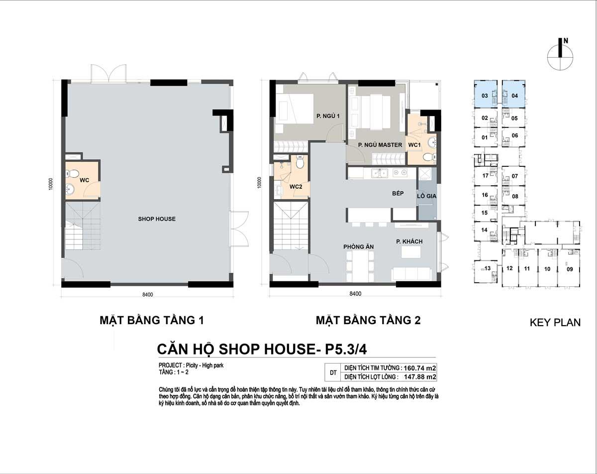 P5 34 160m2 - Shophouse Picity High Park