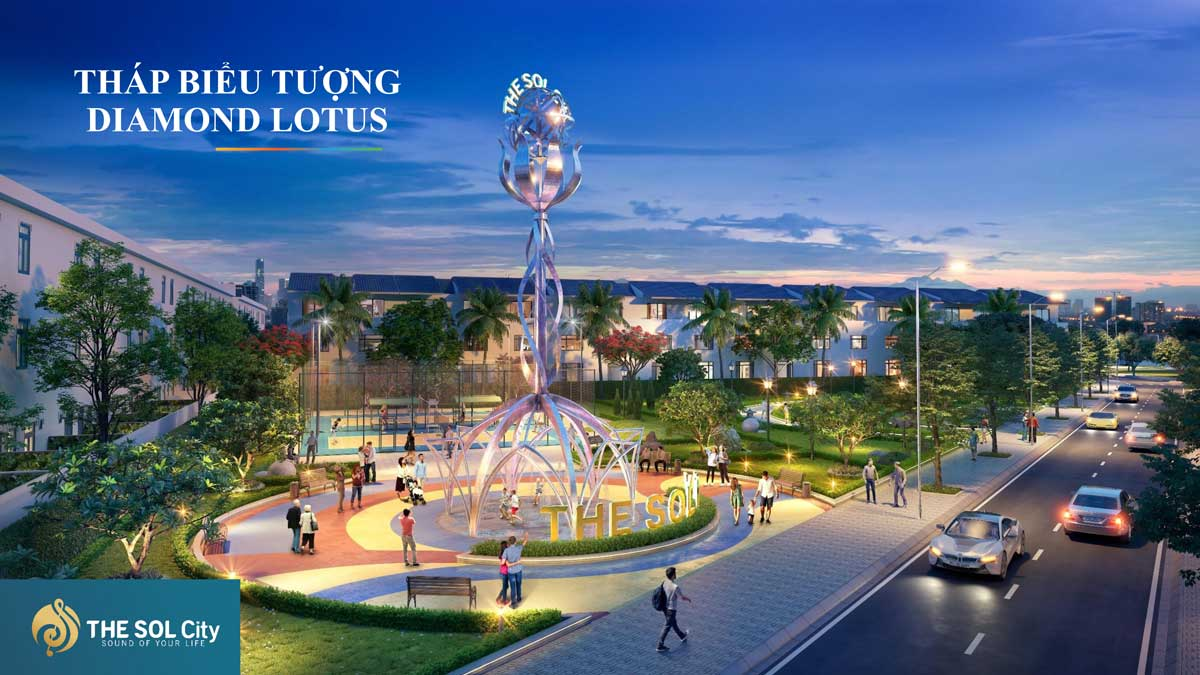 Thap bieu tuong Diamond Lotus The Sol City - The Sol City