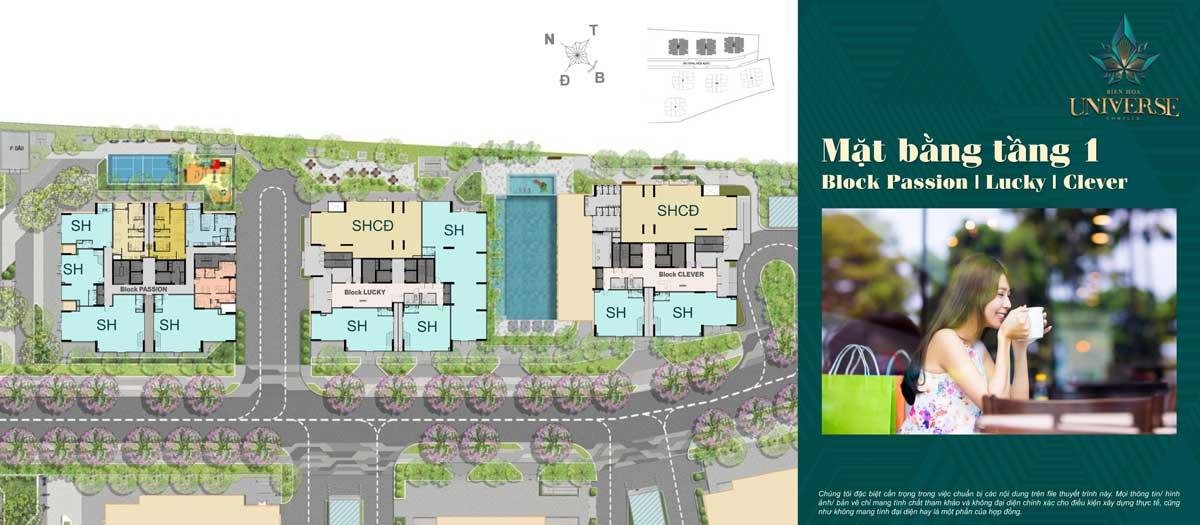 mat bang tang 1 Block Passion Block Lucky Block Clever - Biên Hòa Universe Complex