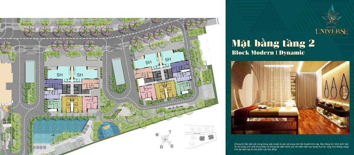 mat bang tang 2 Block Modern Block Dynamic - Biên Hòa Universe Complex