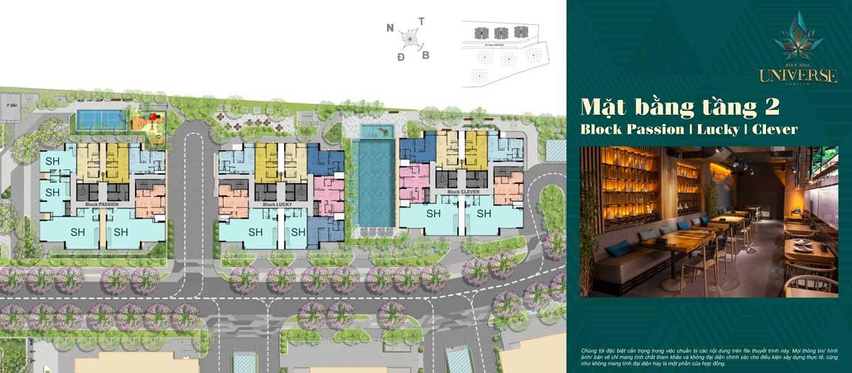 mat bang tang 2 Block Passion Block Lucky Block Clever - Biên Hòa Universe Complex