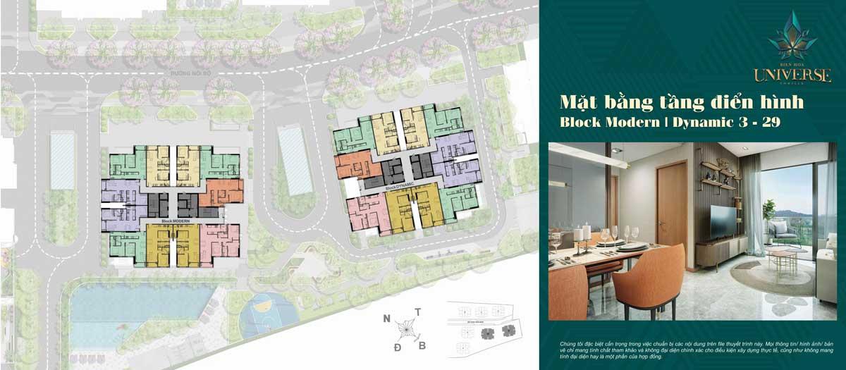 mat bang tang 3 29 Block Modern Block Dynamic - Biên Hòa Universe Complex