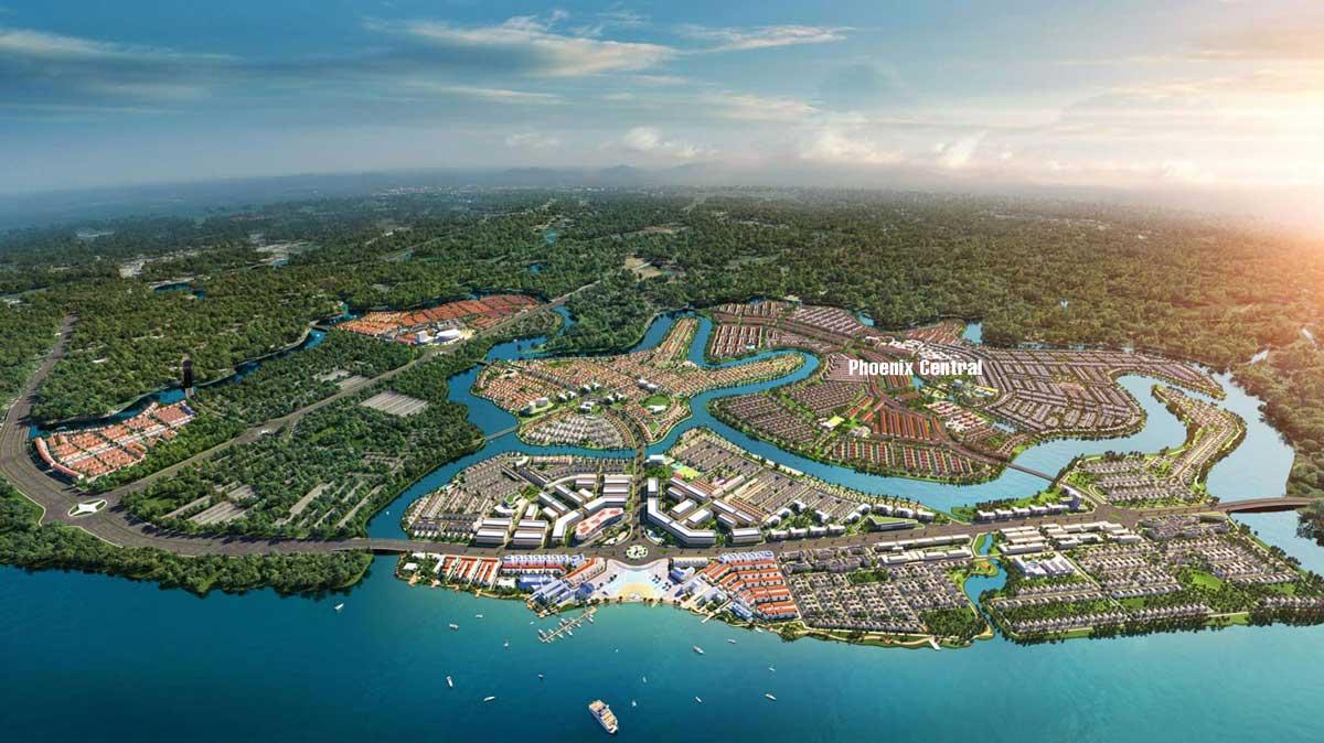 Phối cảnh Phân khu Phoenix Central - Đảo Phượng Hoàng - Aqua City