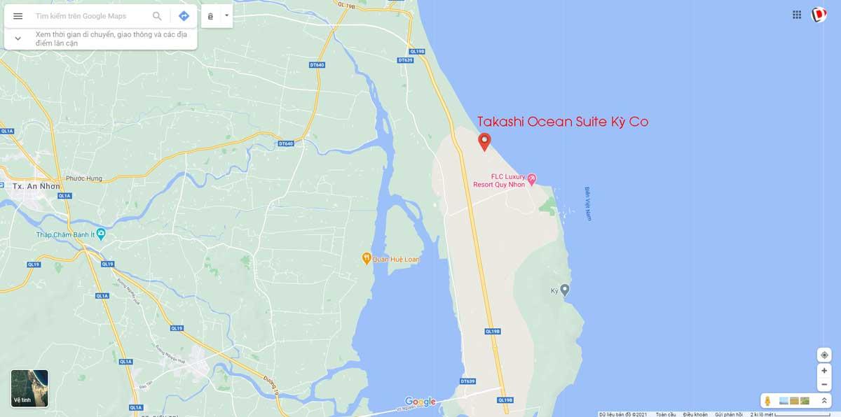 Ban do Vi tri Takashi Ocean Suite - TAKASHI OCEAN SUITE