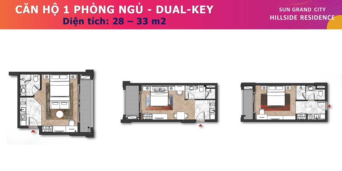 Can ho 1PN Dual Key 28 33m2 Sun Grand City Hillside Residence - SUN GRAND CITY HILLSIDE RESIDENCE