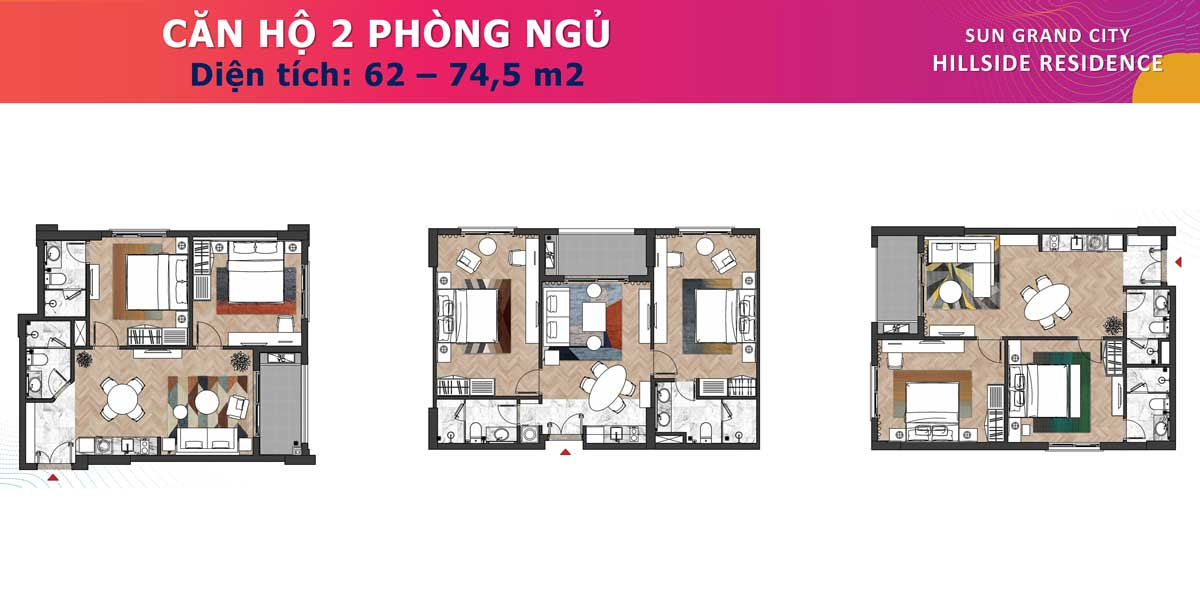 Can ho 2PN Dual Key 62 745m2 Sun Grand City Hillside Residence - SUN GRAND CITY HILLSIDE RESIDENCE
