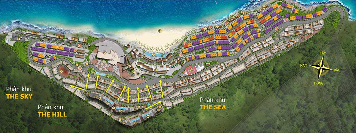 Mat bang Du an Can ho Sun Grand City Hillside Residence Phu Quoc - SUN GRAND CITY HILLSIDE RESIDENCE