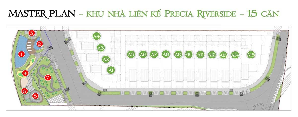 Mat bang Phan lo Nha pho Precia Riverside Quan 2 - Precia Riverside