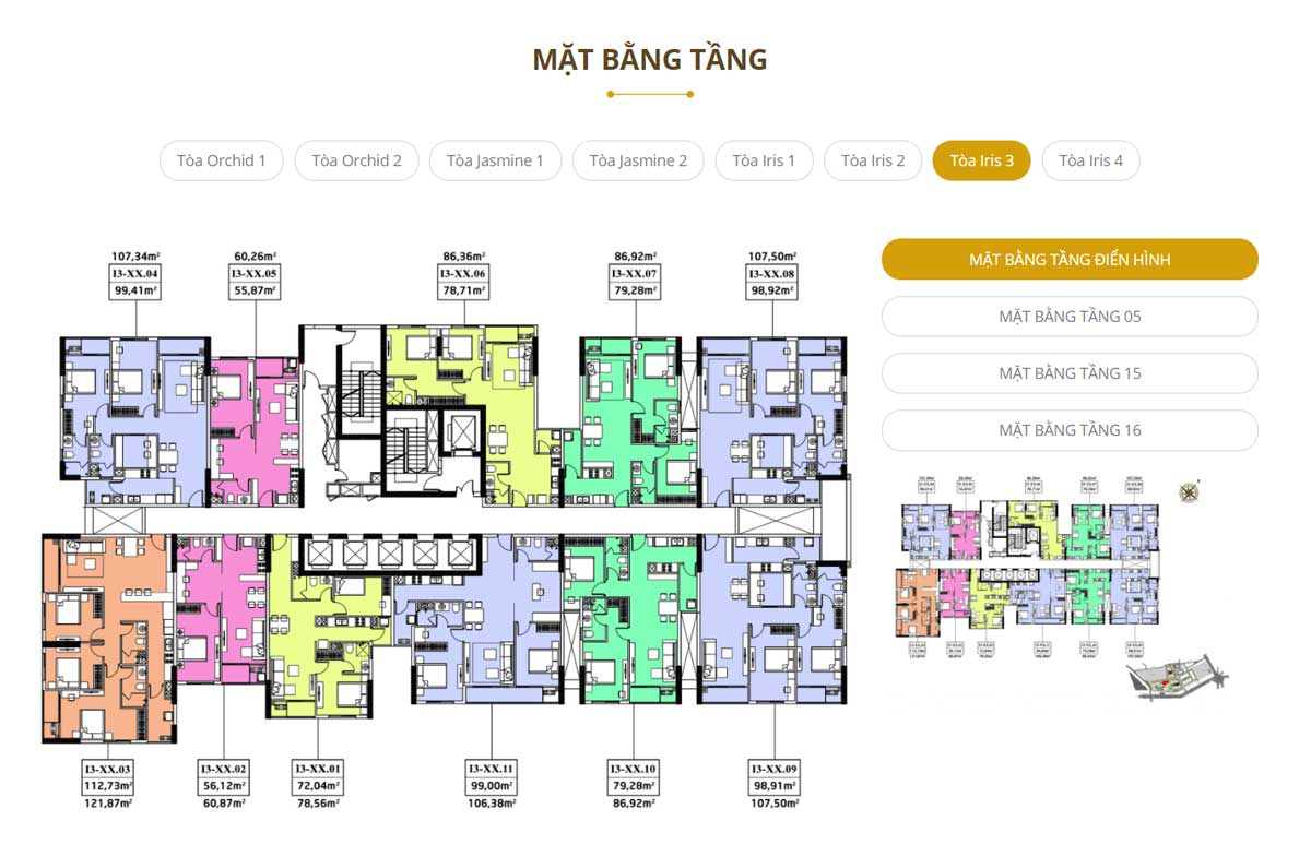 Mat bang Toa Iris 3 Du an Ha Do Centrosa Garden Quan 10 - Hà Đô Centrosa Garden