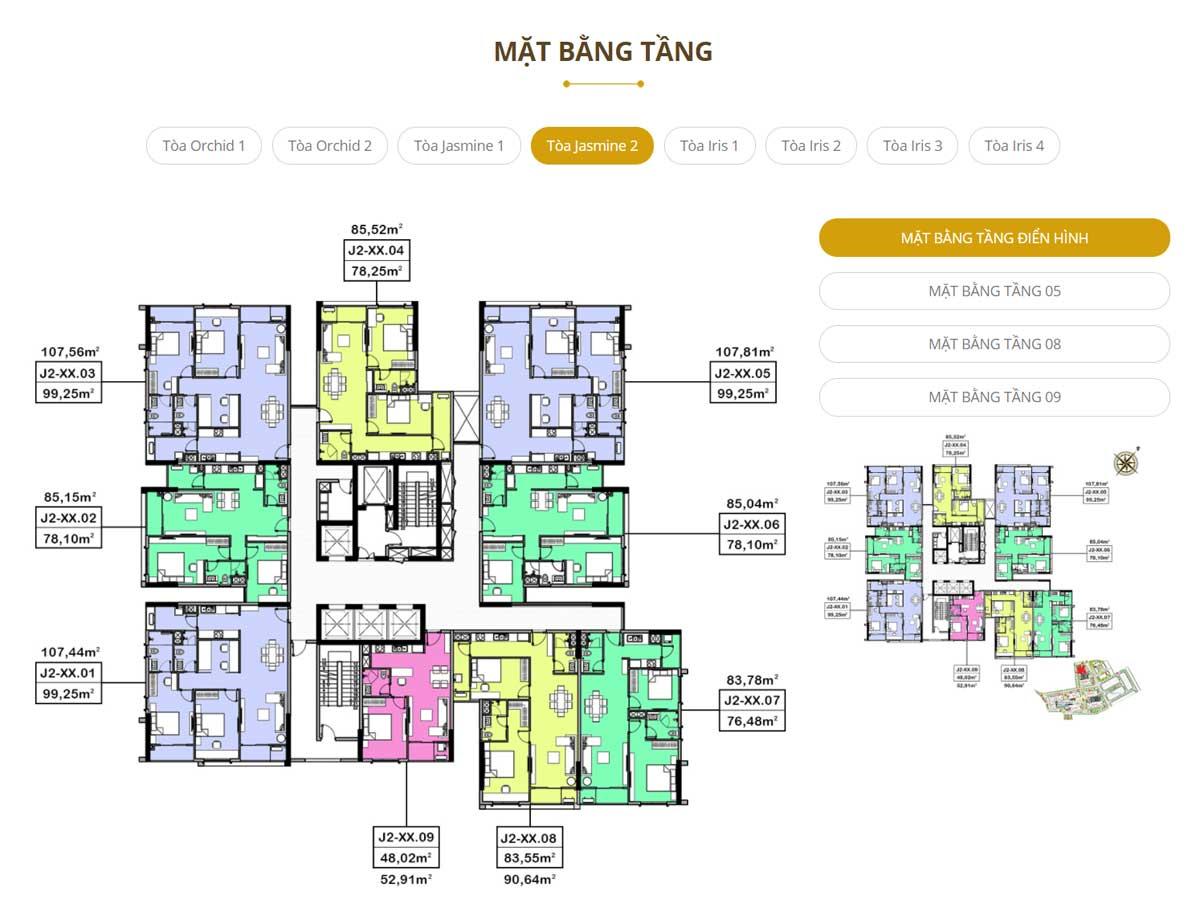 Mat bang Toa Jasmine 2 Du an Ha Do Centrosa Garden Quan 10 - Hà Đô Centrosa Garden