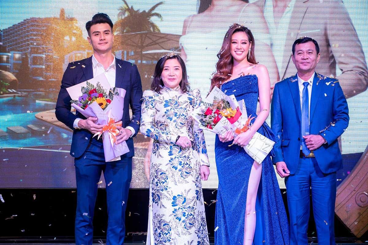 Sieu mau Vinh Thuy ba Lieu Thi Phuong Hoa hau Hoan vu 2019 Nguyen Tran Khanh Van ong Pham Minh pho chu tich HDQT Charm Group - CHARM GROUP
