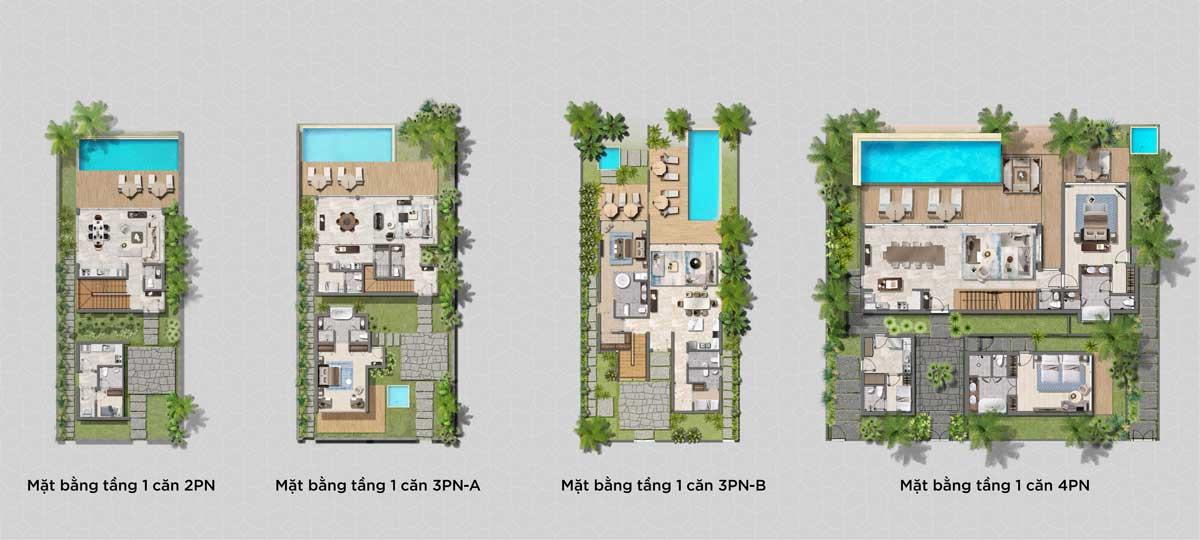 Thiet ke 4 loai Biet thu Hyatt Regency Ho Tram Residences - Hyatt Regency Ho Tram Residences