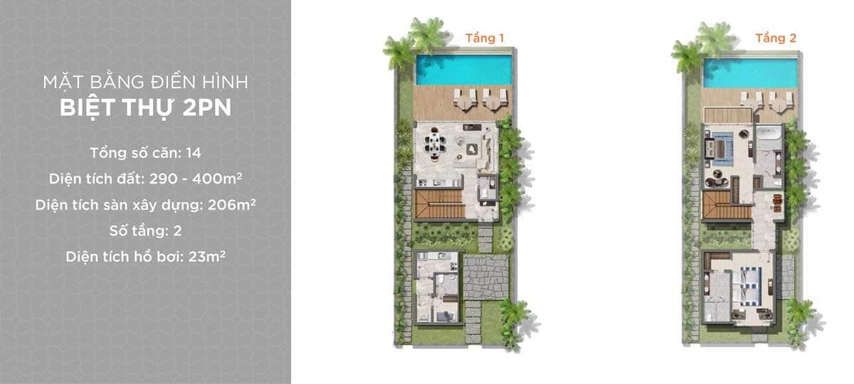 Thiet ke Biet thu Hyatt Regency Ho Tram Residences 2 Phong ngu - Hyatt Regency Ho Tram Residences