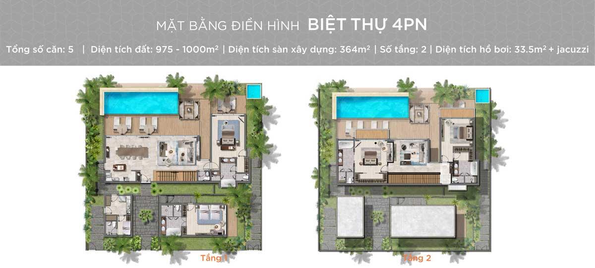 Thiet ke Biet thu Hyatt Regency Ho Tram Residences 4 Phong ngu - Hyatt Regency Ho Tram Residences