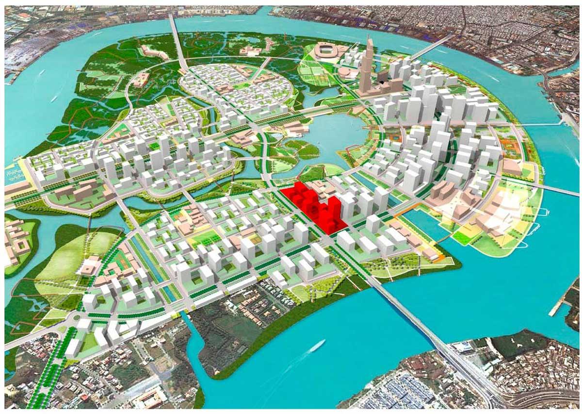 Vi tri Du an Thu Thiem Zeit River - Thủ Thiêm Zeit River Quận 2