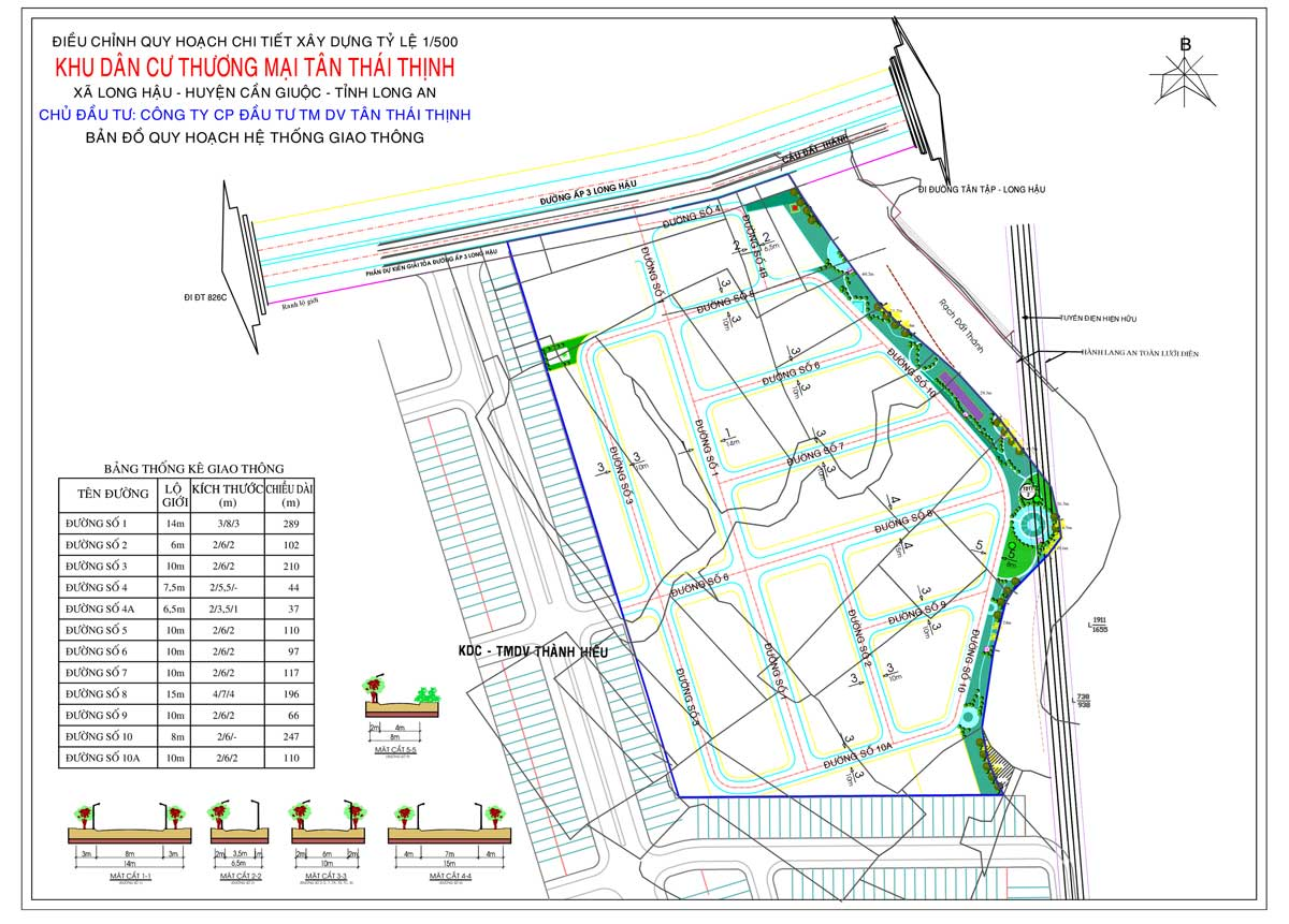 Ban do quy hoach giao thong Du an Khu dan cu Thuong mai Tan Thai Thinh - Dự án Khu dân cư Thương mại Tân Thái Thịnh