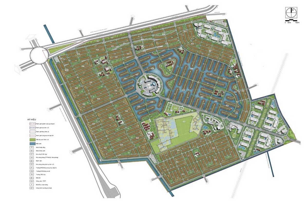 Mat bang Phan lo Du an Khu do thi Vinhomes Dream City - Vinhomes Dream City