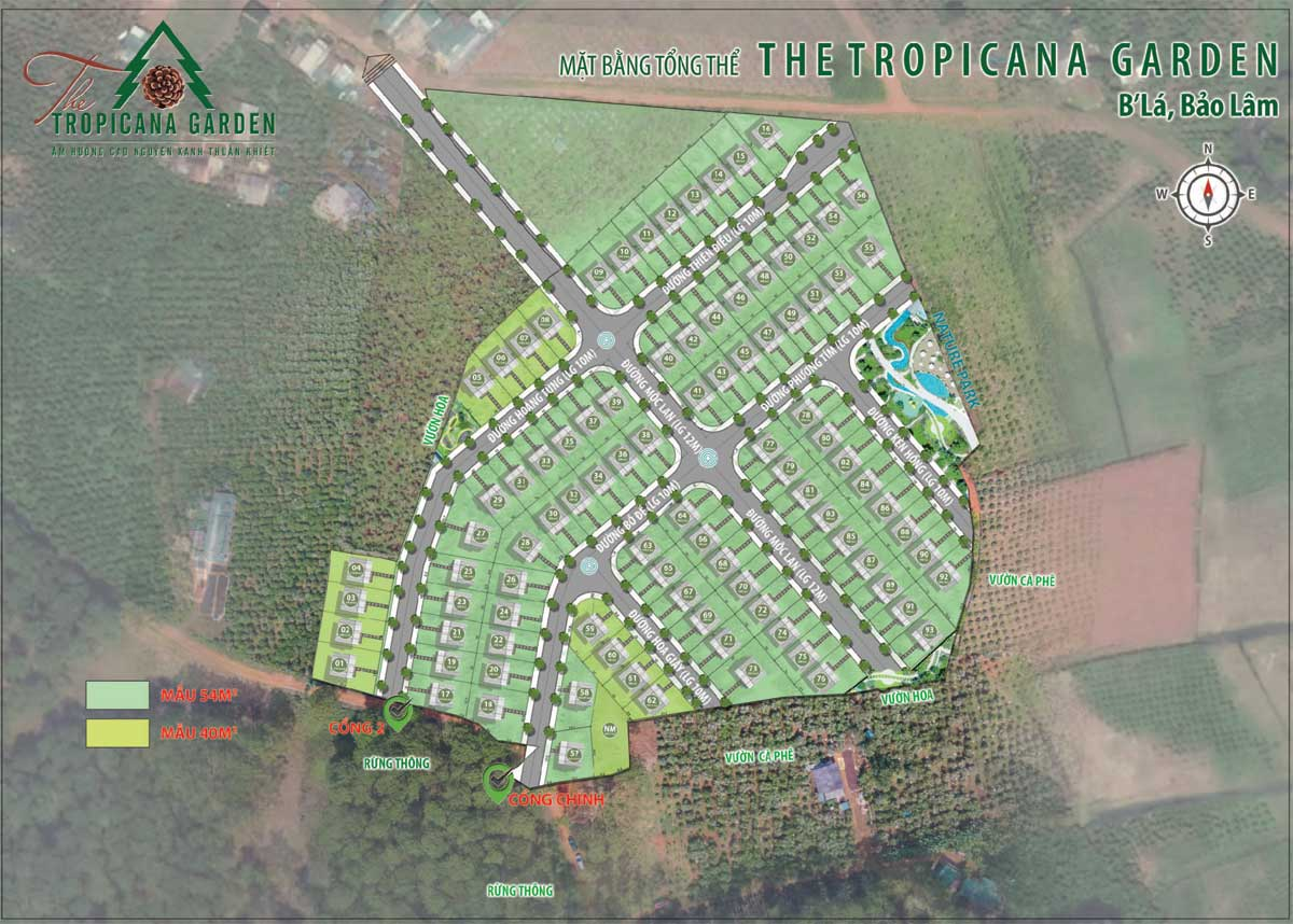 Mat bang Phan lo The Tropicana Garden Bao Loc - Mặt-bằng-Phân-lô-The-Tropicana-Garden-Bảo-Lộc
