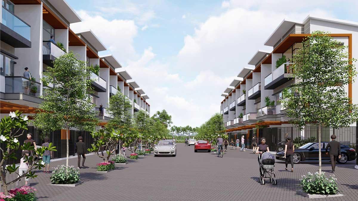 Phoi canh Nha pho Khu dan cu Thuong mai Tan Thai Thinh - Dự án Khu dân cư Thương mại Tân Thái Thịnh