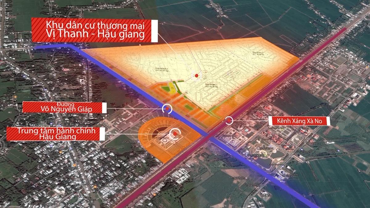 Vi tri Du an DIC Victory City Hau Giang - DIC VICTORY CITY
