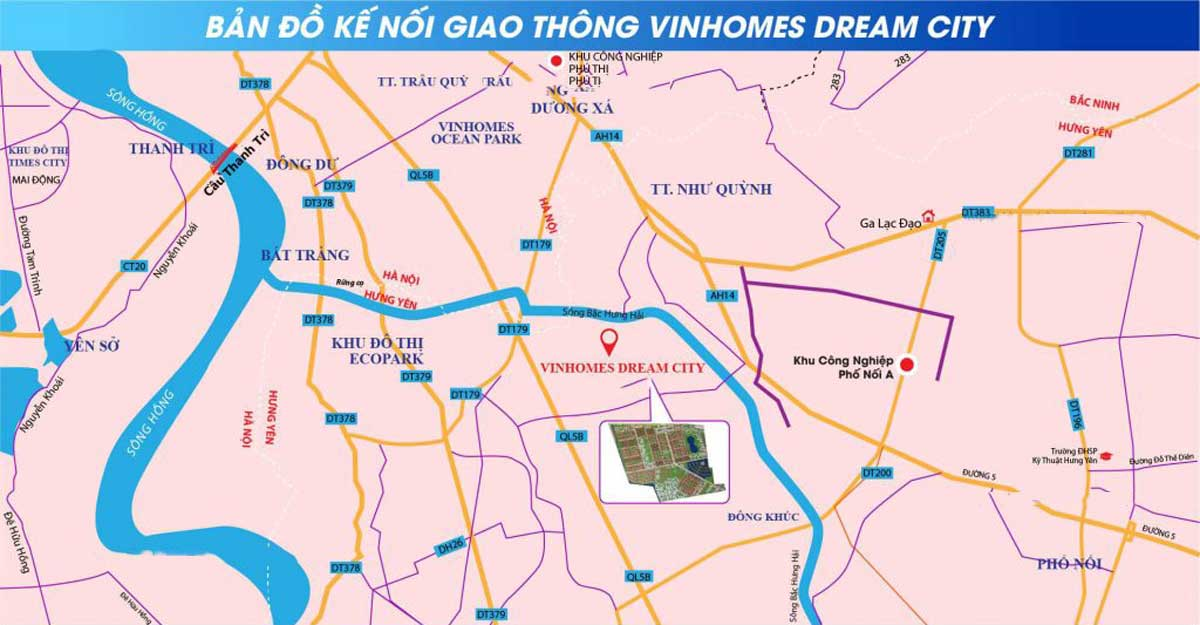 Vi tri Du an Vinhomes Dream City - Vinhomes Dream City