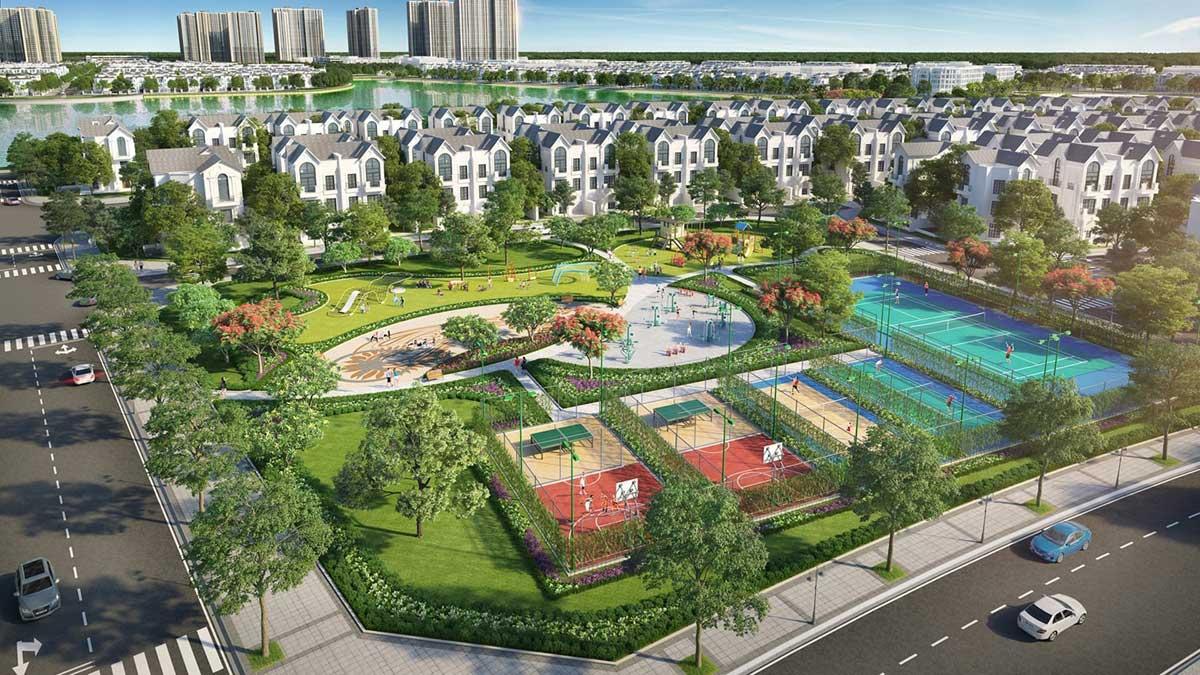 phoi canh khu biet thu vinhomes wonderpark dan phuong - Vinhomes Wonder Park