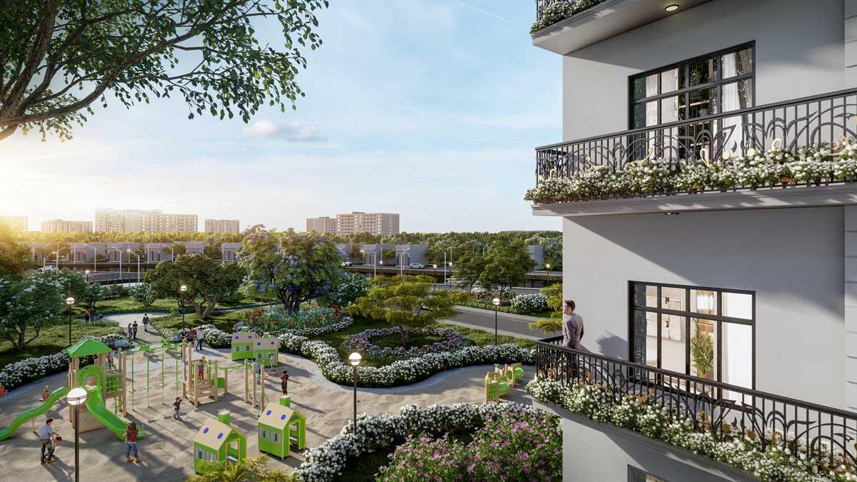 Cong vien noi khu Nha pho One Palace Luxury Residence - One Palace 2